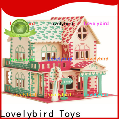 Lovelybird Toys good selling 3d wooden puzzle house company for sale