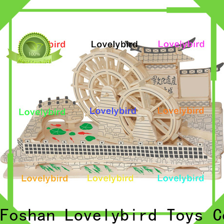 Lovelybird Toys 3d wooden puzzle house supply for sale