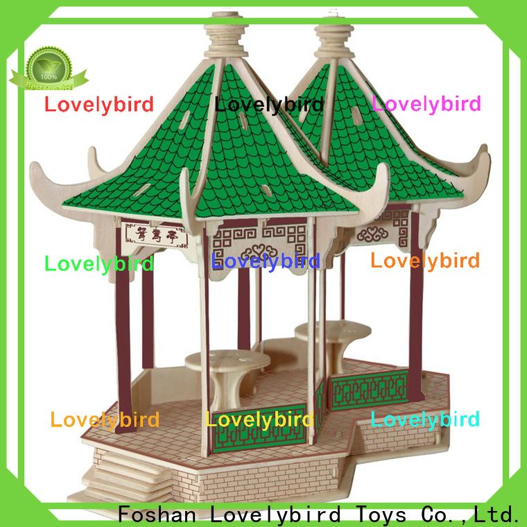 Lovelybird Toys hot sale 3d wooden puzzle house supply for adults