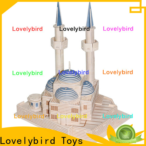 Lovelybird Toys 3d wooden puzzle house supply for adults