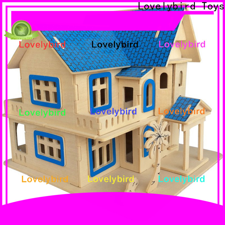 Lovelybird Toys 3d wooden house puzzles suppliers for adults