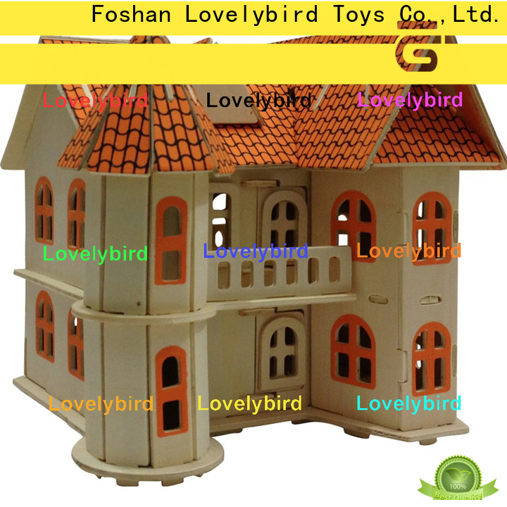 Lovelybird Toys hot sale 3d building puzzle suppliers for adults