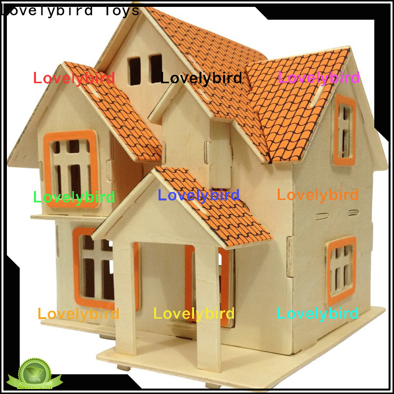Lovelybird Toys new 3d wooden puzzle house suppliers for sale