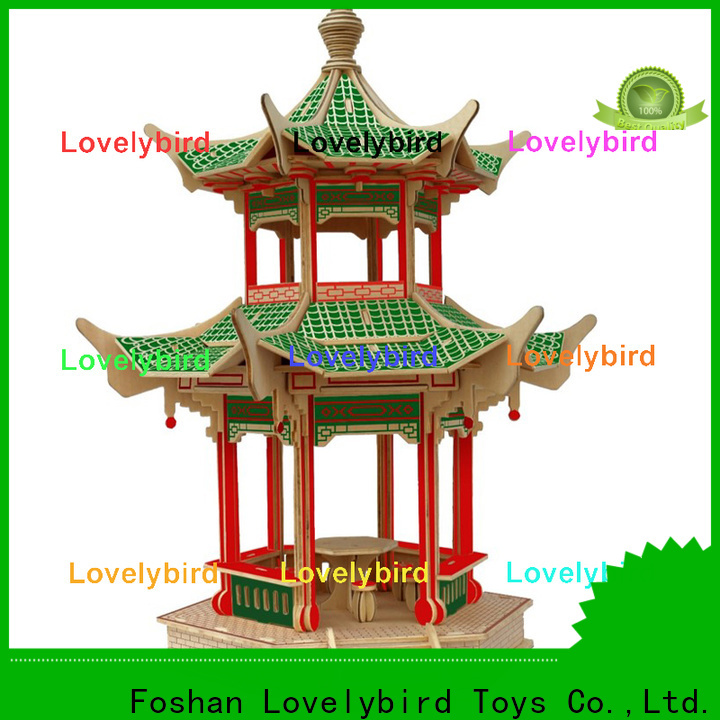 Lovelybird Toys new 3d wooden puzzle house supply for present