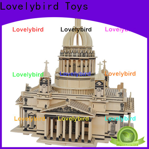 Lovelybird Toys new 3d wooden house puzzles supply for adults