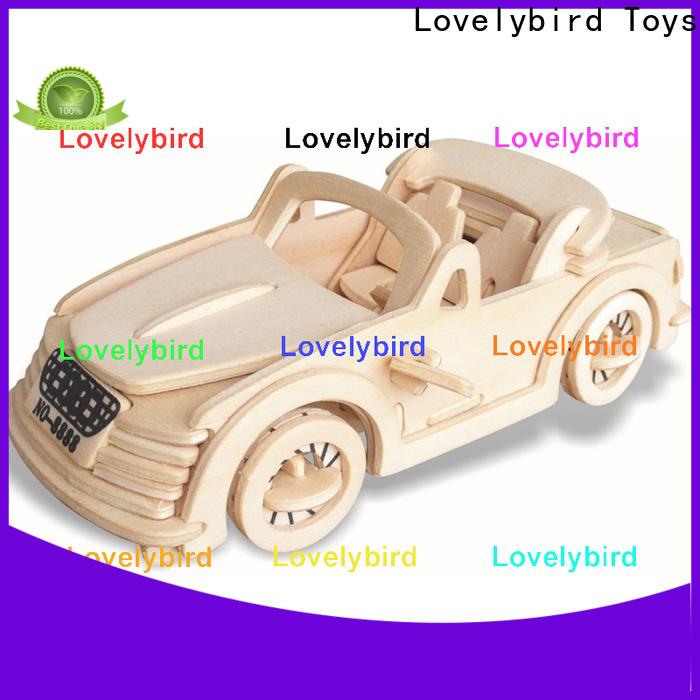 Lovelybird Toys custom 3d wooden car puzzle suppliers for adults