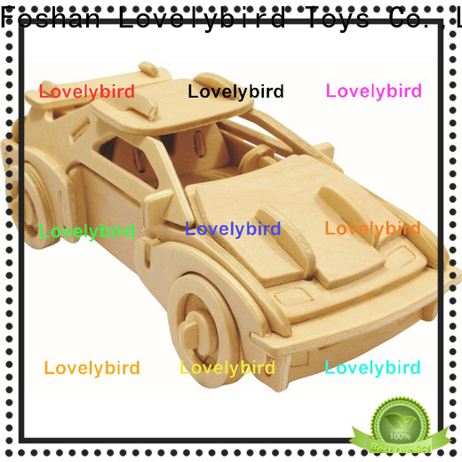 Lovelybird Toys custom 3d wooden puzzle car manufacturers for entertainment