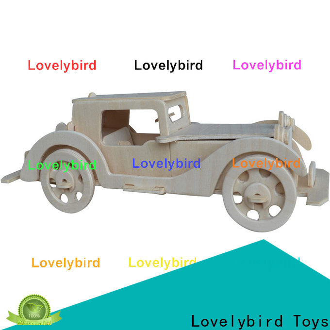 Lovelybird Toys wholesale 3d wooden car puzzle supply for kids