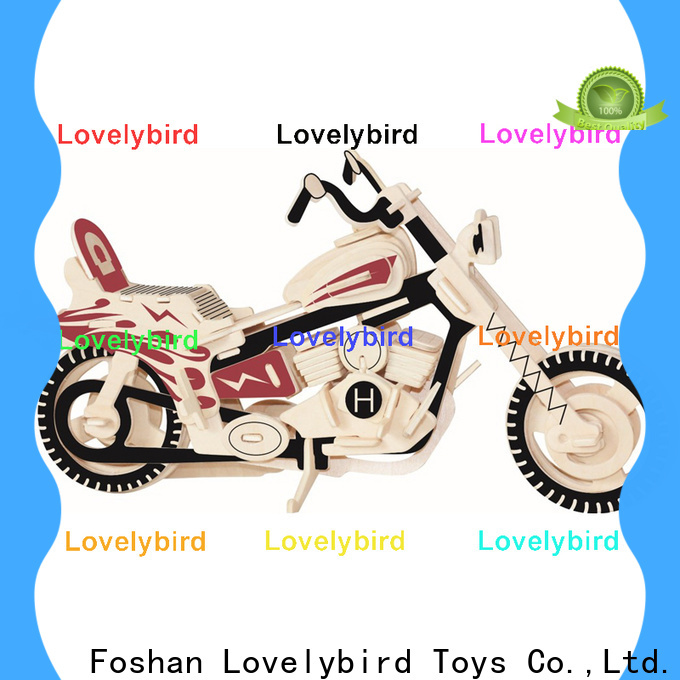 Lovelybird Toys latest 3d wooden car puzzle factory for kids