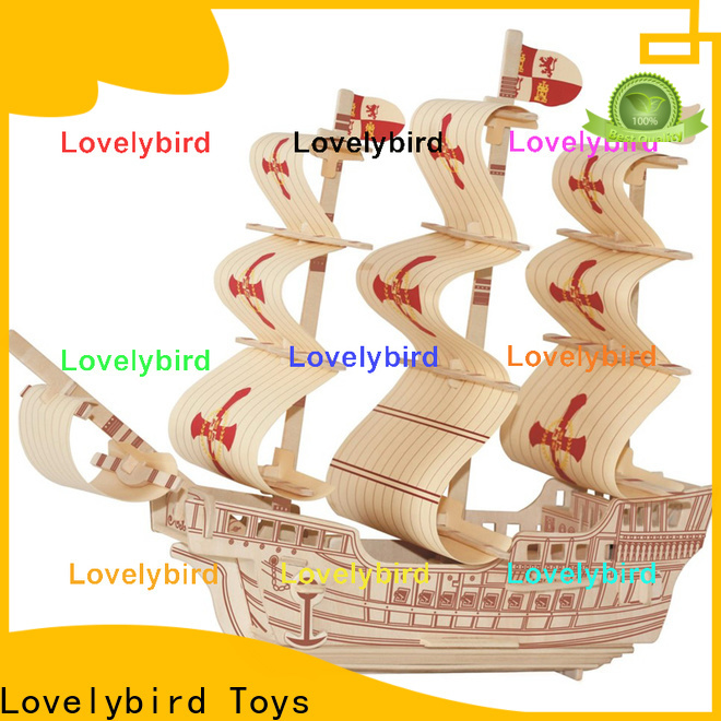 Lovelybird Toys 3d airplane puzzle factory for sale