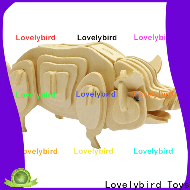 Lovelybird Toys 3d wooden puzzle animals manufacturers for sale