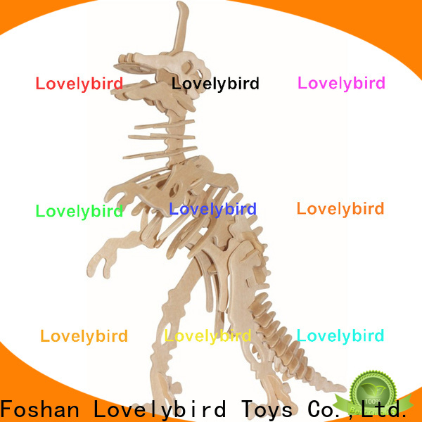 Lovelybird Toys beautiful 3d wooden animal puzzle factory for adults