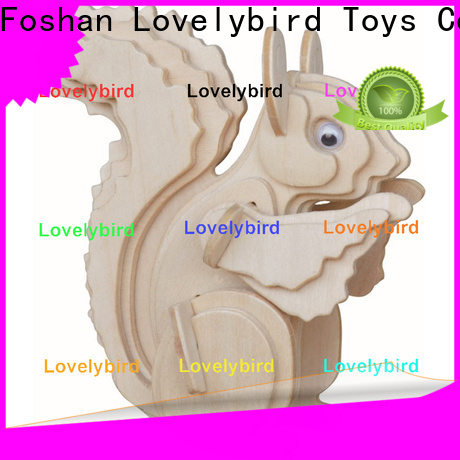 Lovelybird Toys 3d wooden animal puzzle company for entertainment