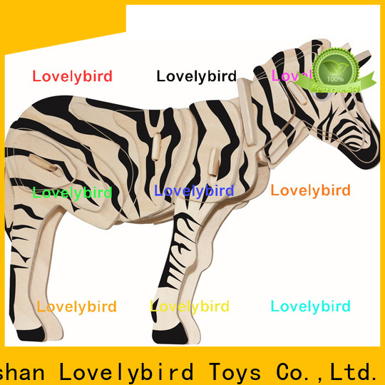Lovelybird Toys fast delivery wooden 3d animal puzzles manufacturers for kids