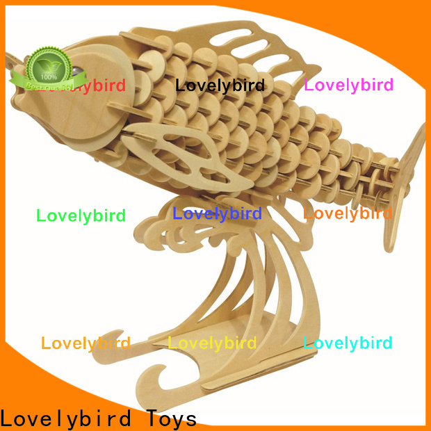 custom 3d wooden animal puzzle factory for present