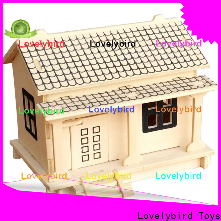 Lovelybird Toys high-quality 3d wooden puzzle house supply for adults