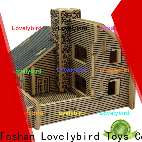 new 3d wooden house puzzles manufacturers for adults
