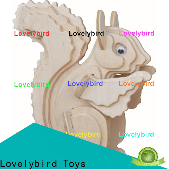 Lovelybird Toys 3d wooden puzzle animals company for entertainment