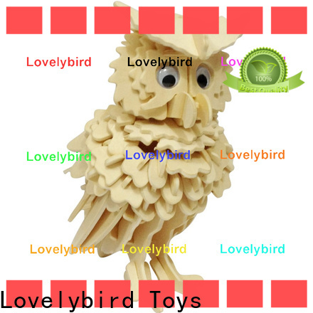 Lovelybird Toys wooden 3d animal puzzles supply for kids