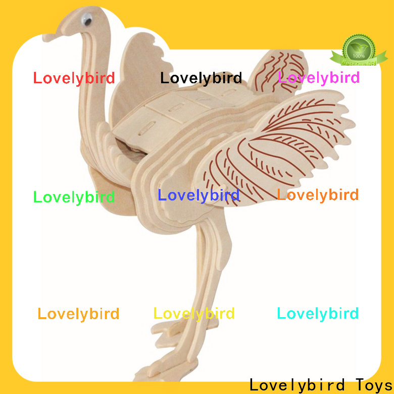 Lovelybird Toys 3d wooden puzzle animals factory for entertainment