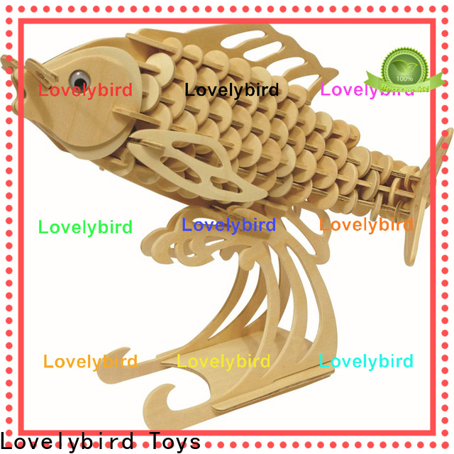 Lovelybird Toys fast delivery 3d wooden animal puzzle manufacturers for business