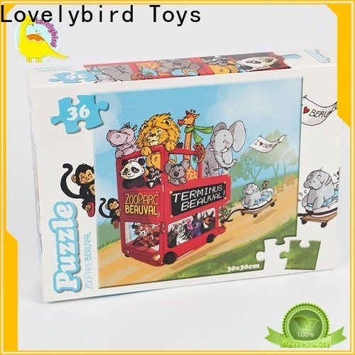 Lovelybird Toys custom childrens jigsaw puzzles toy for entertainment