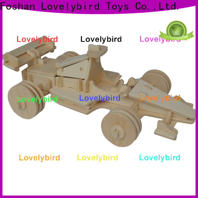 Lovelybird Toys 3d wooden puzzle car manufacturers for entertainment