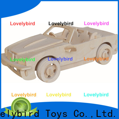 Lovelybird Toys custom 3d wooden car puzzle supply for kids