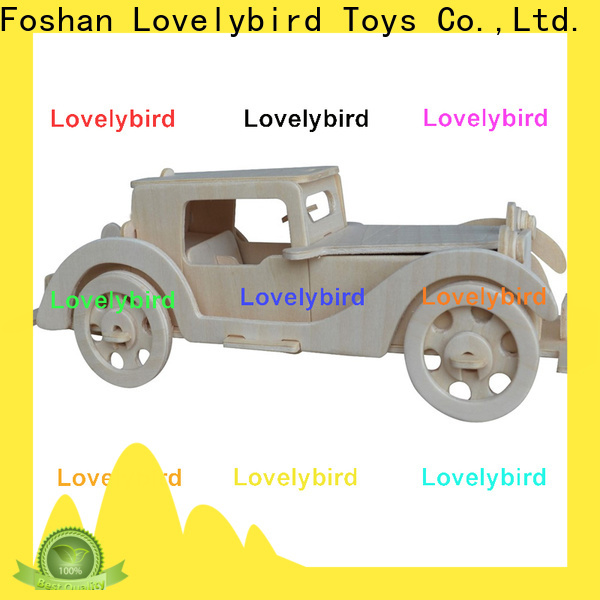 Lovelybird Toys 3d wooden puzzle car suppliers for adults