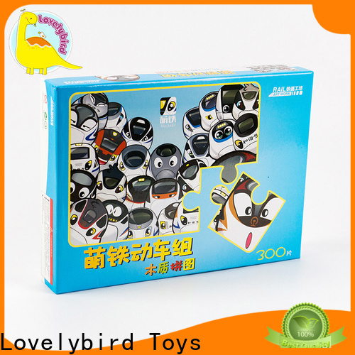 Lovelybird Toys custom wooden puzzles for toddlers with poster for activities