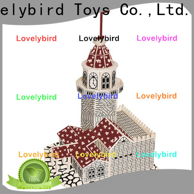 Lovelybird Toys hot sale 3d wooden house puzzles factory for business