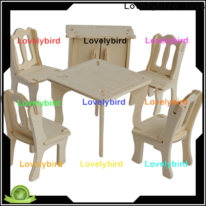 custom 3d wooden puzzle dollhouse furniture suppliers for game