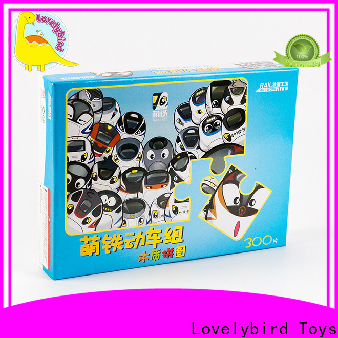 Lovelybird Toys high-quality childrens wooden puzzles with poster for adult