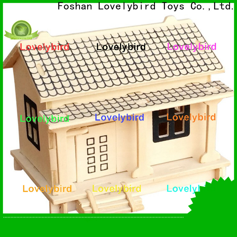 Lovelybird Toys new 3d wooden puzzle house company for business