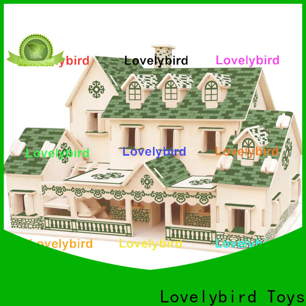 latest 3d wooden puzzle house supply for sale