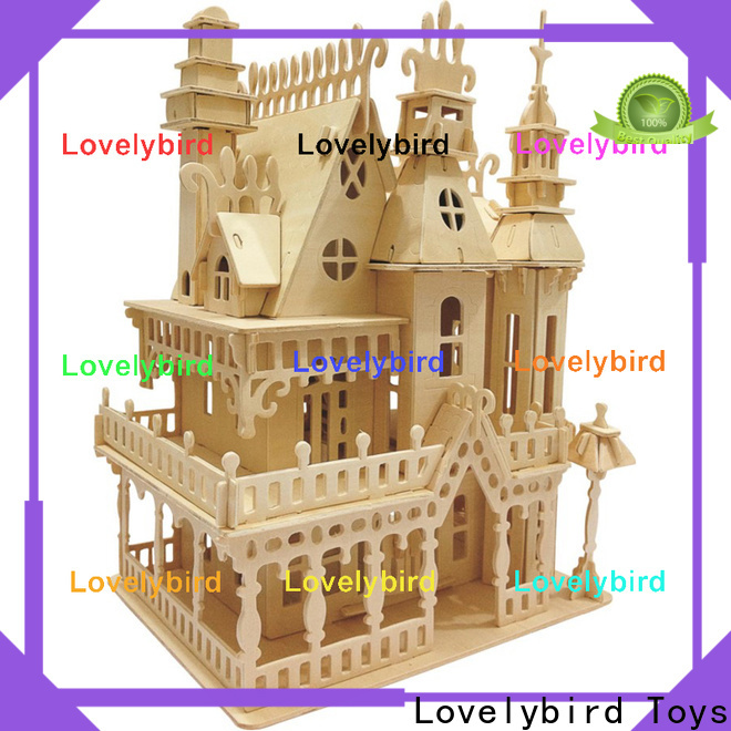 Lovelybird Toys interesting 3d wooden puzzle house manufacturers for sale