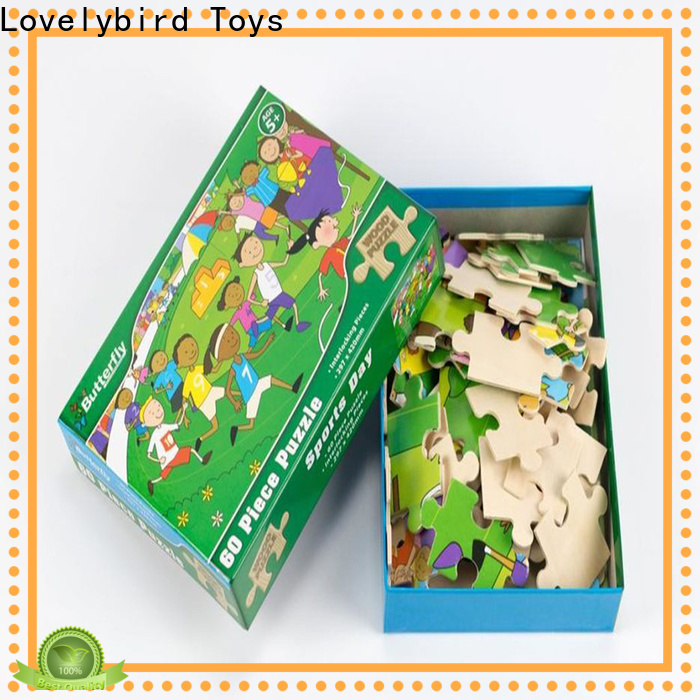 wholesale disney wooden puzzles with poster for kids
