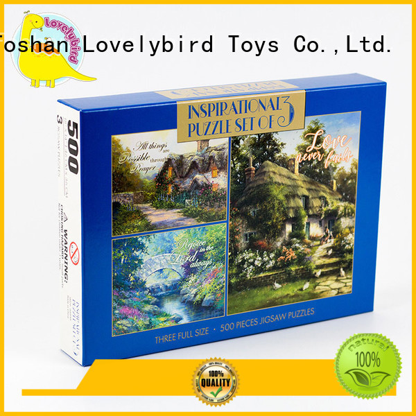 Lovelybird Toys paper puzzle 500 toy for adult