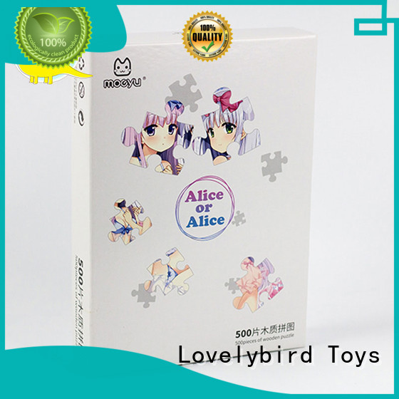 Lovelybird Toys wooden jigsaw puzzles for adults with frame for activities