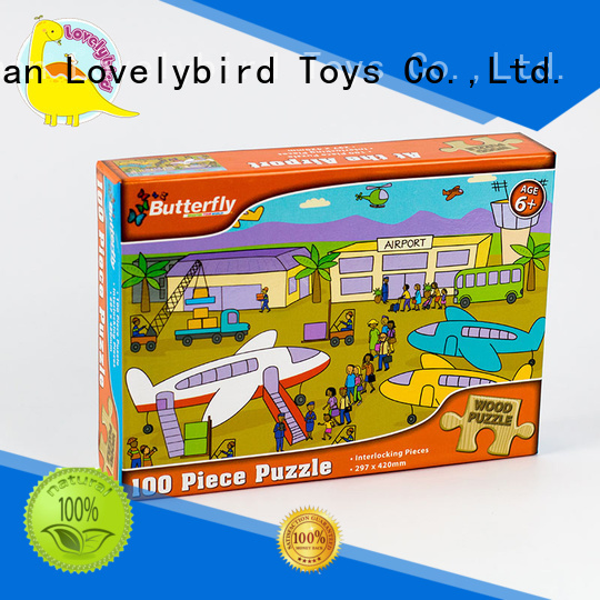 100pcEducational with Poster Wooden Puzzle for Kids