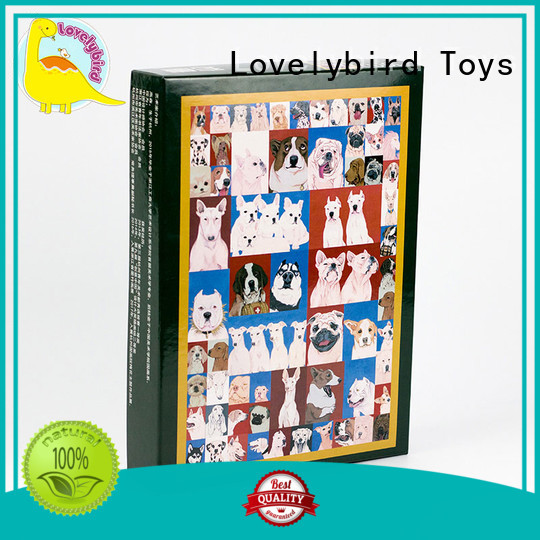Lovelybird Toys all kinds wooden puzzles for toddlers with poster for entertainment