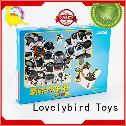 Lovelybird Toys wooden jigsaw puzzles with poster for sale