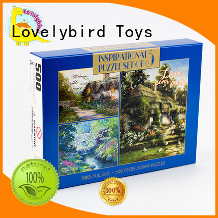Lovelybird Toys lenticular christmas jigsaw puzzles design for entertainment