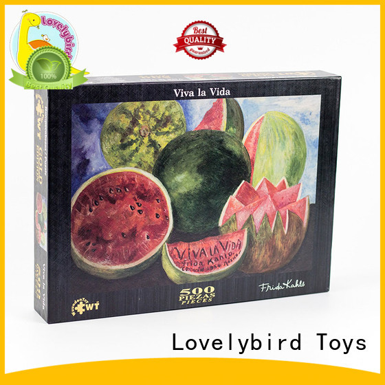 Lovelybird Toys round jigsaw puzzle gratuit design for entertainment