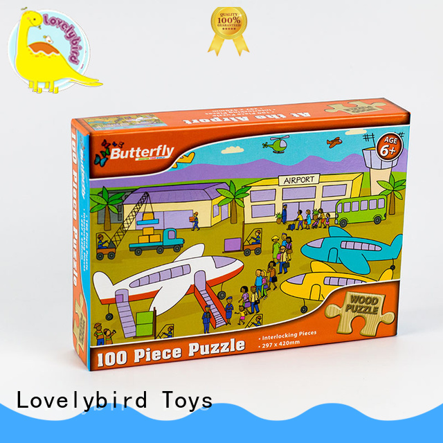 Lovelybird Toys functional disney wooden puzzles with frame for activities