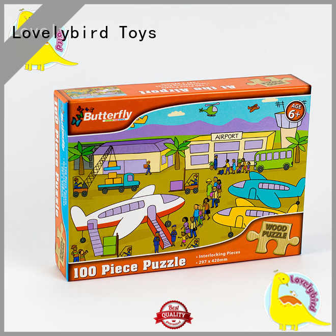 Lovelybird Toys wooden puzzles for adults with poster for adult