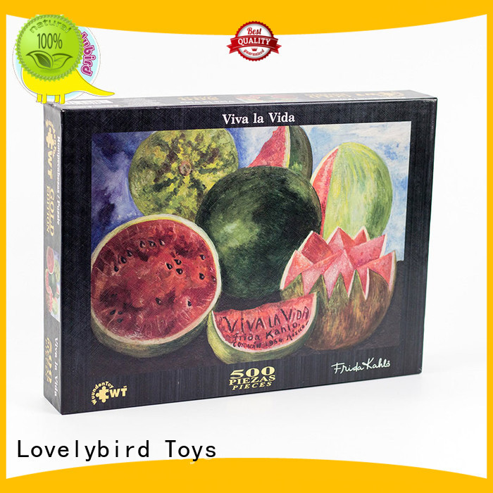 Lovelybird Toys embossing puzzle 500 toy for kids