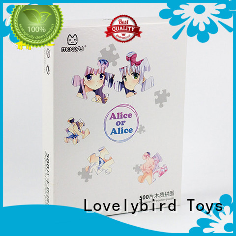 Lovelybird Toys hot sale wooden jigsaw puzzles with poster for sale