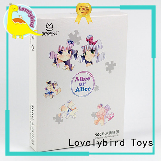 Lovelybird Toys wooden puzzles with frame for adult