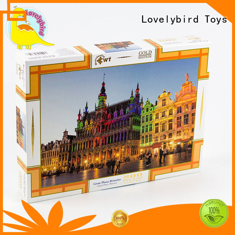 Lovelybird Toys round christmas jigsaw puzzles toy for entertainment